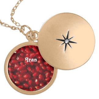 Pomegranate Round Locket Necklace