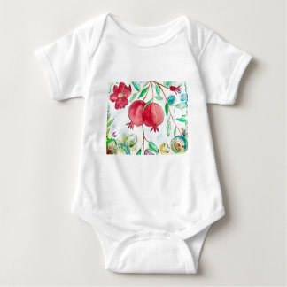 Pomegranate painting pomegranate art Wall art Baby Bodysuit