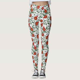 Pomegranate Pattern Leggings