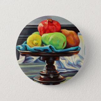 Pomegranate Pear Lemon Pedestal 6 Cm Round Badge