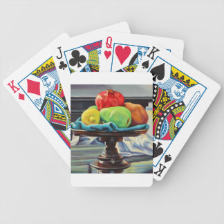 Pomegranate Pear Lemon Pedestal Bicycle Playing Cards