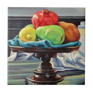 Pomegranate Pear Lemon Pedestal Ceramic Tile