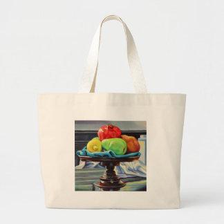 Pomegranate Pear Lemon Pedestal Large Tote Bag
