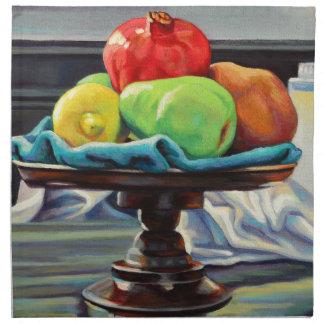Pomegranate Pear Lemon Pedestal Napkin