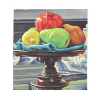 Pomegranate Pear Lemon Pedestal Notepad