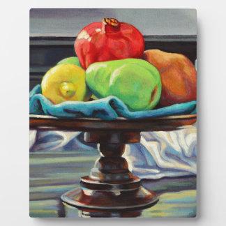 Pomegranate Pear Lemon Pedestal Plaque