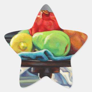 Pomegranate Pear Lemon Pedestal Star Sticker