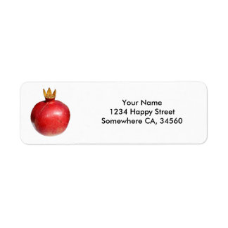 Pomegranate Return Address Label