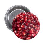 Pomegranate seeds 6 cm round badge