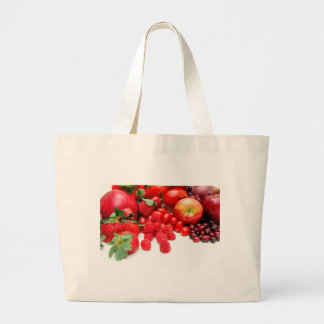 Pomegranate Strawberries And Raspberries Large Tote Bag
