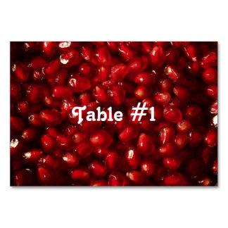 Pomegranate Table Card