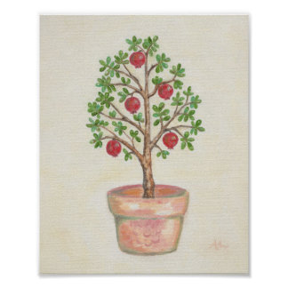 Pomegranate Tree art print