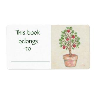 Pomegranate Tree book label Shipping Label
