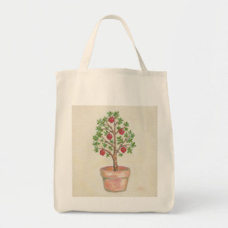Pomegranate Tree grocery bag