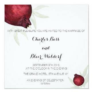 Pomegranate wedding invitation