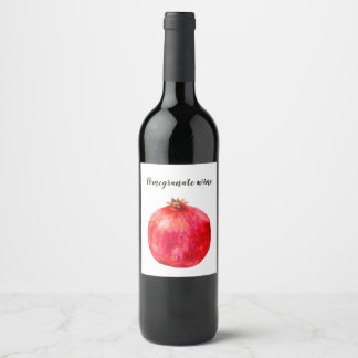 Pomegranate wine label. wine label