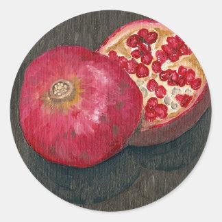Pomegranates Round Sticker
