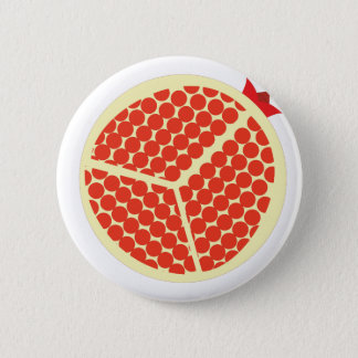 pomegrante in the inside 6 cm round badge