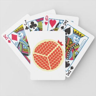 pomegrante in the inside bicycle playing cards