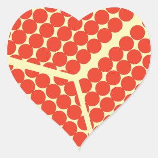 pomegrante in the inside heart sticker