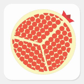 pomegrante in the inside square sticker