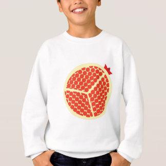 pomegrante in the inside sweatshirt