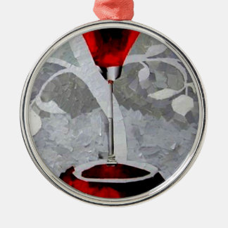 Pomegrante Rum 2011.JPG Silver-Colored Round Decoration