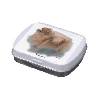 Pomeranian Art Gifts Jelly Belly Tin