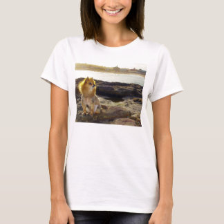 Pomeranian Beach T-Shirt