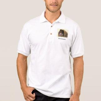 Pomeranian Black and Tan Painting Original Dog Art Polo Shirt