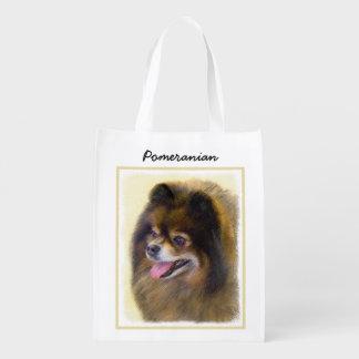 Pomeranian (Black and Tan) Reusable Grocery Bag
