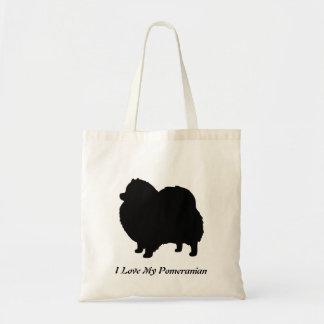 Pomeranian Black Dog Silhouette