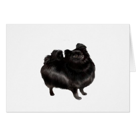 Pomeranian - black (stand) card