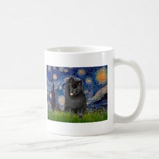 Pomeranian (black) - Starry Night Coffee Mug
