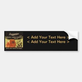 Pomeranian Brand – Organic Coffee Company Bumper Sticker