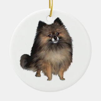 Pomeranian -  brindle ceramic ornament