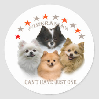 Pomeranian Can't Have Just One Stickers