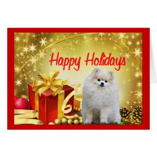 Pomeranian  Christmas Card Gift