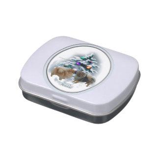 Pomeranian Christmas Jelly Belly Tin