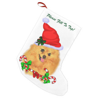 Pomeranian Christmas Small Christmas Stocking