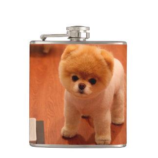 Pomeranian-cute puppies-spitz-pom dog-pom puppies hip flask