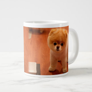 Pomeranian-cute puppies-spitz-pom dog-pom puppies large coffee mug
