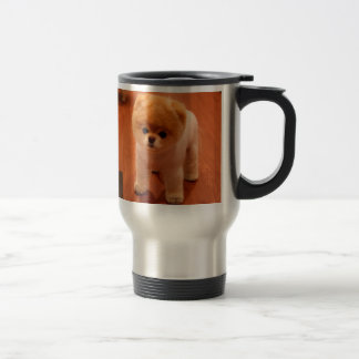 Pomeranian-cute puppies-spitz-pom dog-pom puppies travel mug