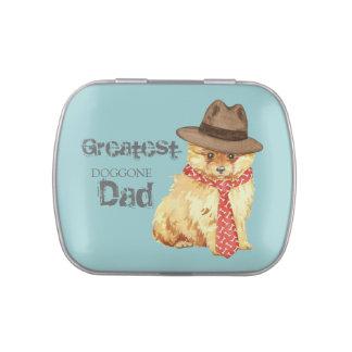 Pomeranian Dad Candy Tin