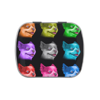 Pomeranian dog art 4584 - BB Candy Tins