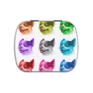 Pomeranian dog art 4584 WB Candy Tin