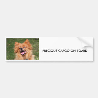 Pomeranian dog bumper sticker