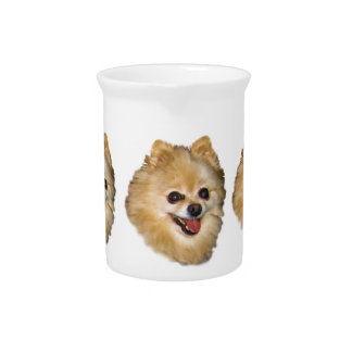 Pomeranian Dog Customizable Pitcher