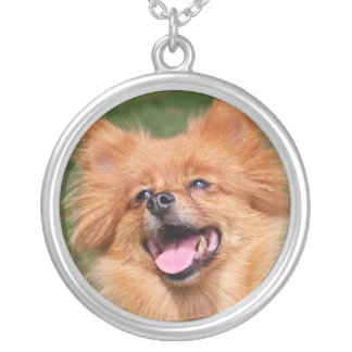 Pomeranian dog necklace gift idea