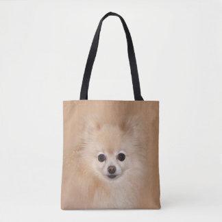 Pomeranian face tote bag